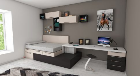 apartment-bed-bedroom-book-shelves-439227