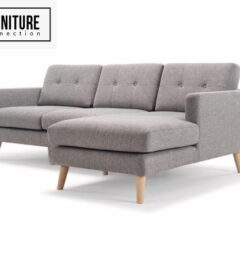 L shape grey couch